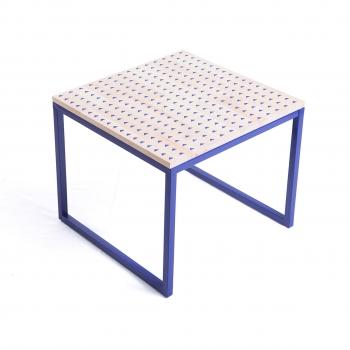 MA-JONG PATTERN blue top