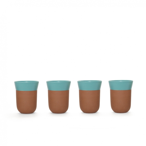 TCHAA Cup – Set of 4 Turquoise